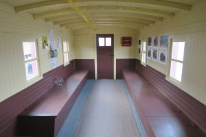 Interior on long end of caboose